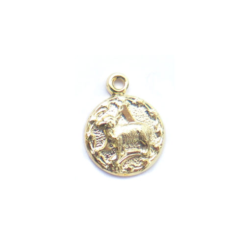 gold tiny zodiac - aries