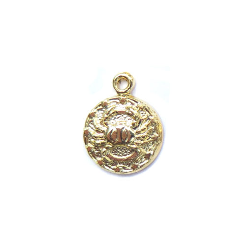gold tiny zodiac - cancer