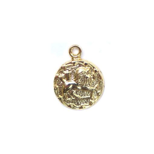 gold tiny zodiac - leo