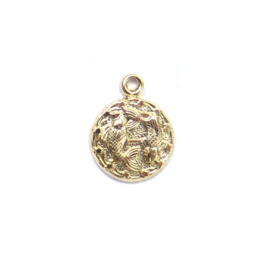 gold tiny zodiac - pisces