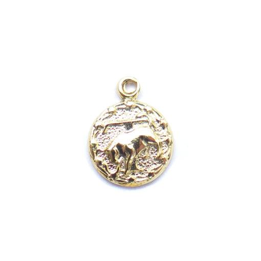 gold tiny zodiac - taurus