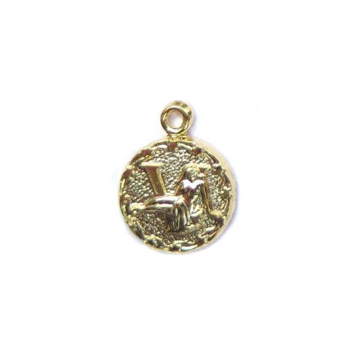 gold tiny zodiac - virgo