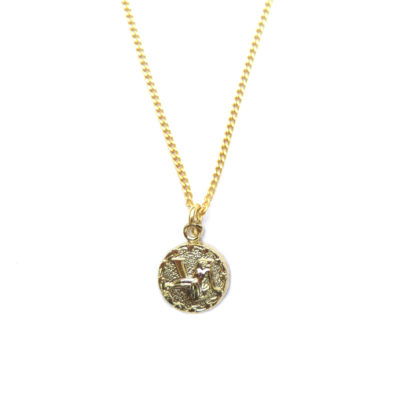 tiny gold plated VIRGO necklace
