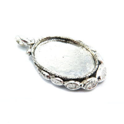 antiqued silver finding pendant -