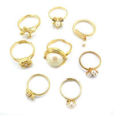 mixed pearl rings