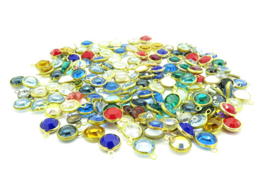 colorful crystal channel charms