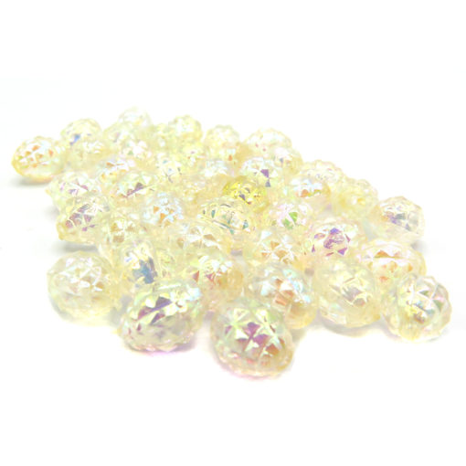 football faceted irridescent beads
