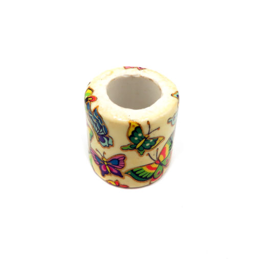huge butterfly cylinder beads