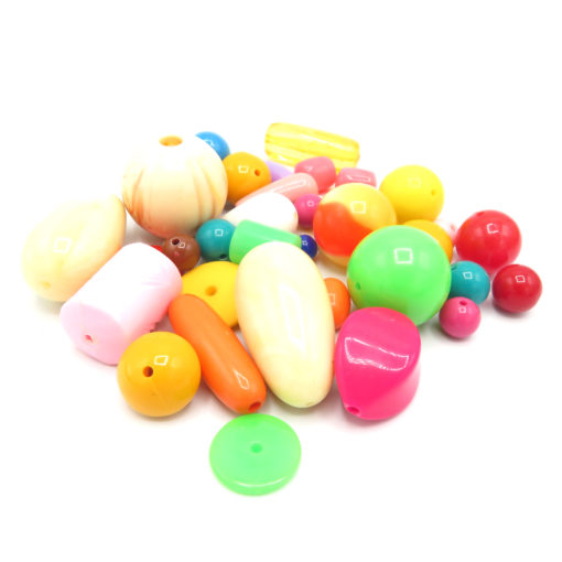 large plastic mixed beads -