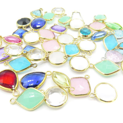 mixed plastic crystal charms