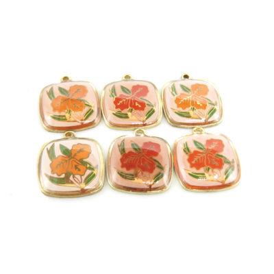 red-orange hibiscus cab