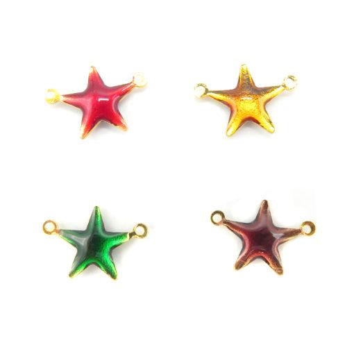 resin enamel multicolored stars