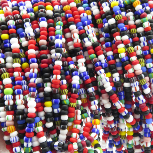 colorful seed bead strands