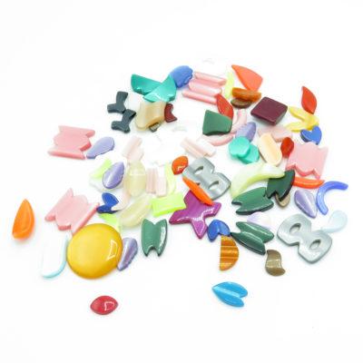 giant plastic cabochon bead mix