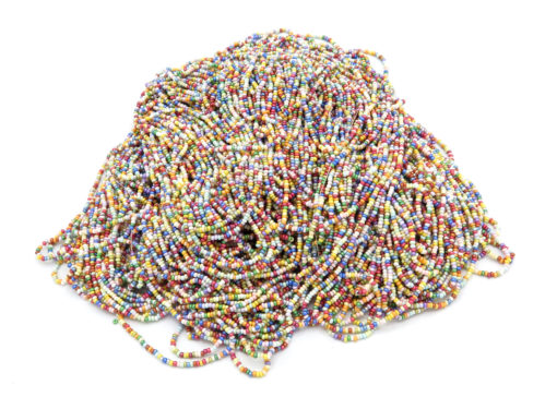 pastel seed bead strands